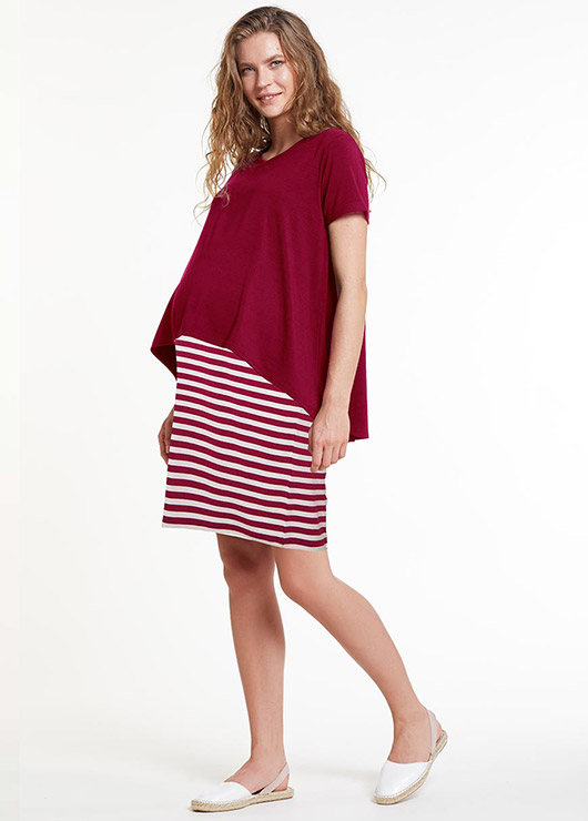 - Nursing Detailed Maternity Dress Ally