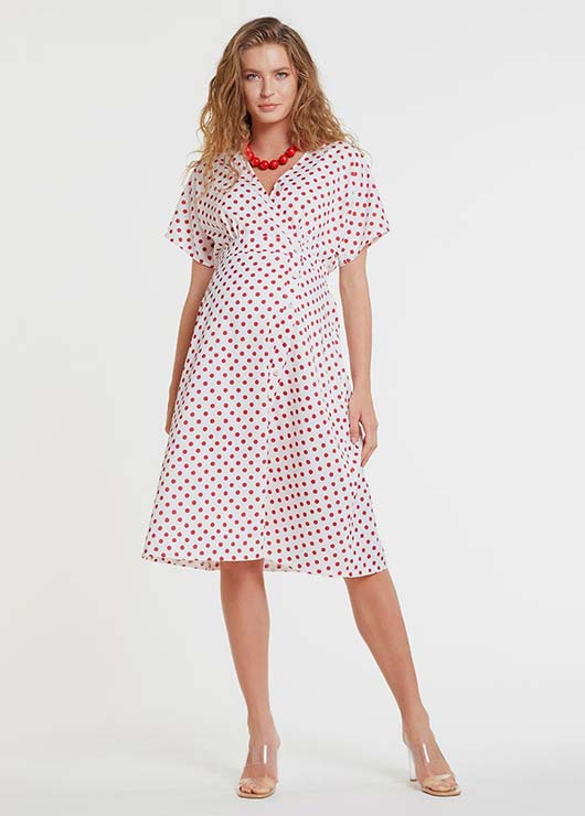 - Red Spotted Maternity Dress Istanbul