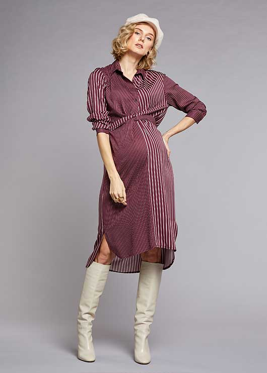 - Shirt Dress Claret
