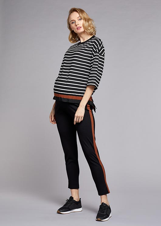 - Side Stripe Maternity Trousers James