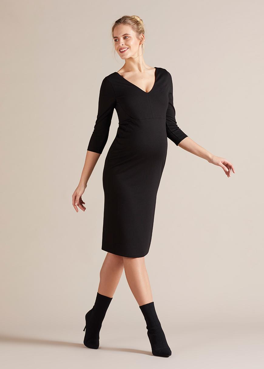 - V Yaka Tüp Hamile Elbisesi Kaliyana