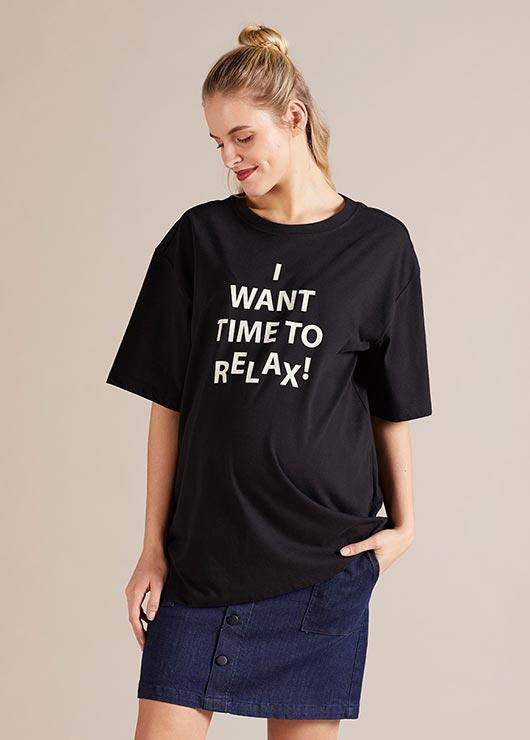 - Bol Formlu Hamile Tişörtü Peggy