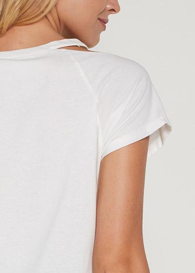 Sloganlı Crop Hamile Tişörtü Yuki - Thumbnail
