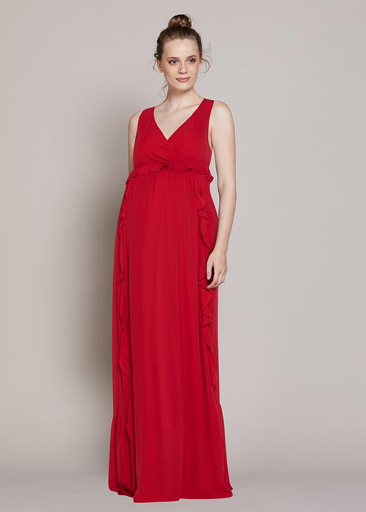- Uzun Şifon Abiye Elbise Hot
