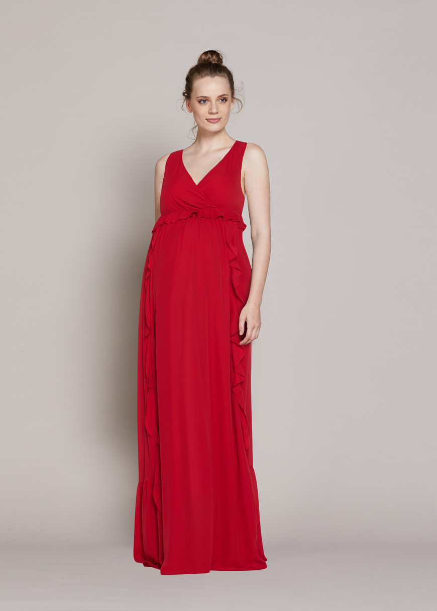Uzun Şifon Abiye Elbise Hot