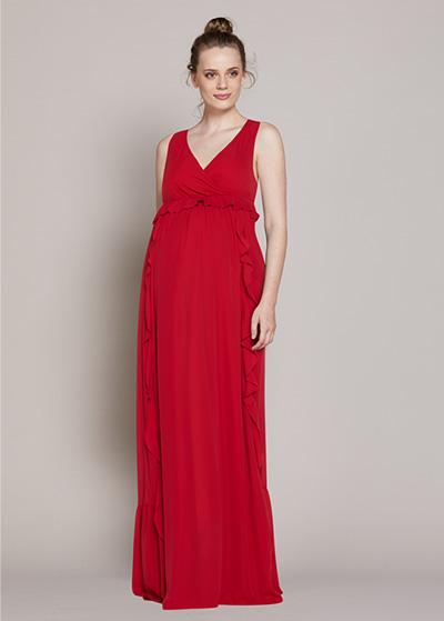 Uzun Şifon Abiye Elbise Hot - Thumbnail