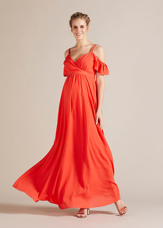 - Uzun Hamile Abiye Elbisesi Blossom