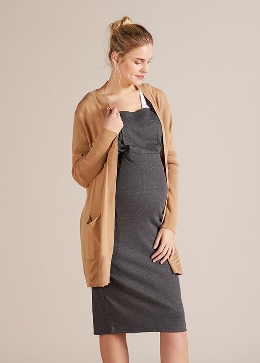 - Uzun Hamile Hırkası Brenna
