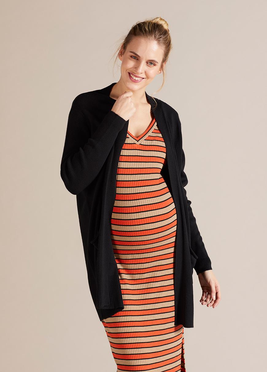 Uzun Hamile Hırkası Brenna