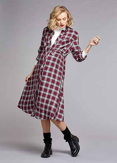 Uzun Kollu Gömlek Elbise Tanya - Thumbnail