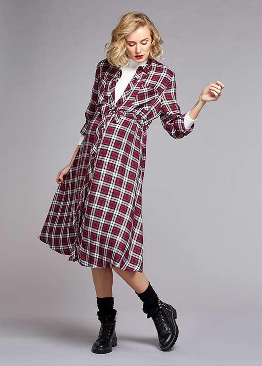 - Uzun Kollu Gömlek Elbise Tanya