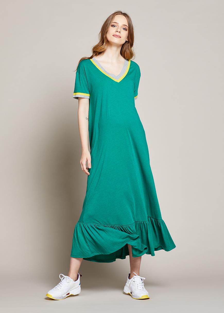 Uzun Rahat Hamile Elbisesi Mafalya