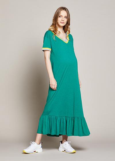 Uzun Rahat Hamile Elbisesi Mafalya - Thumbnail