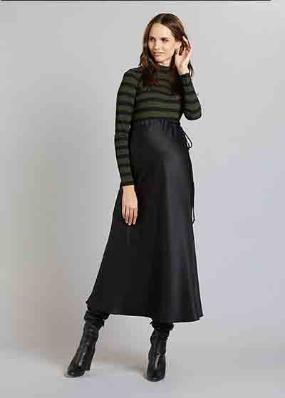 Uzun Siyah Hamile Eteği Jenna - Thumbnail