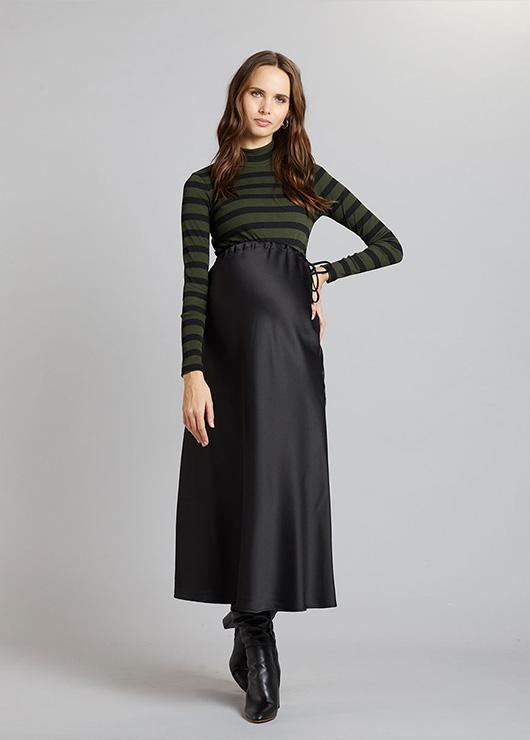- Uzun Siyah Hamile Eteği Jenna