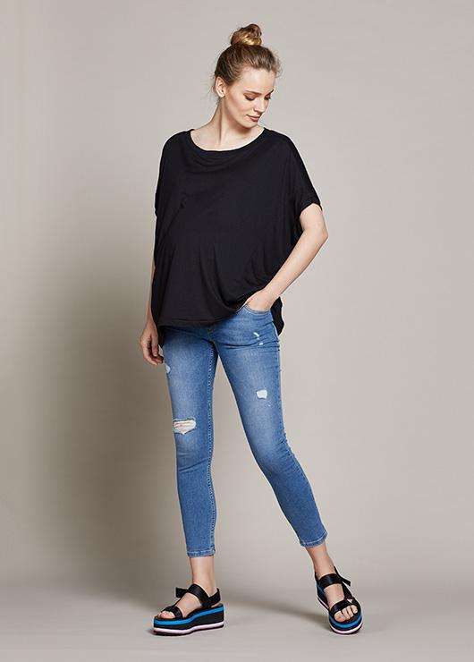 - Yıpratmalı Hamile Skinny Jean Pantolon Milan