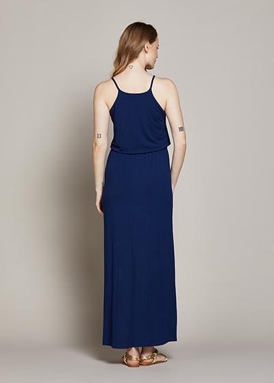 Askılı Uzun Hamile Elbisesi Ema - Thumbnail