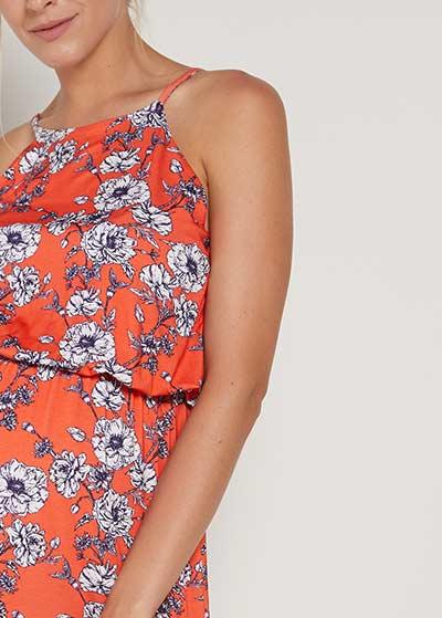 Yırtmaçlı Uzun Hamile Elbisesi Harper - Thumbnail