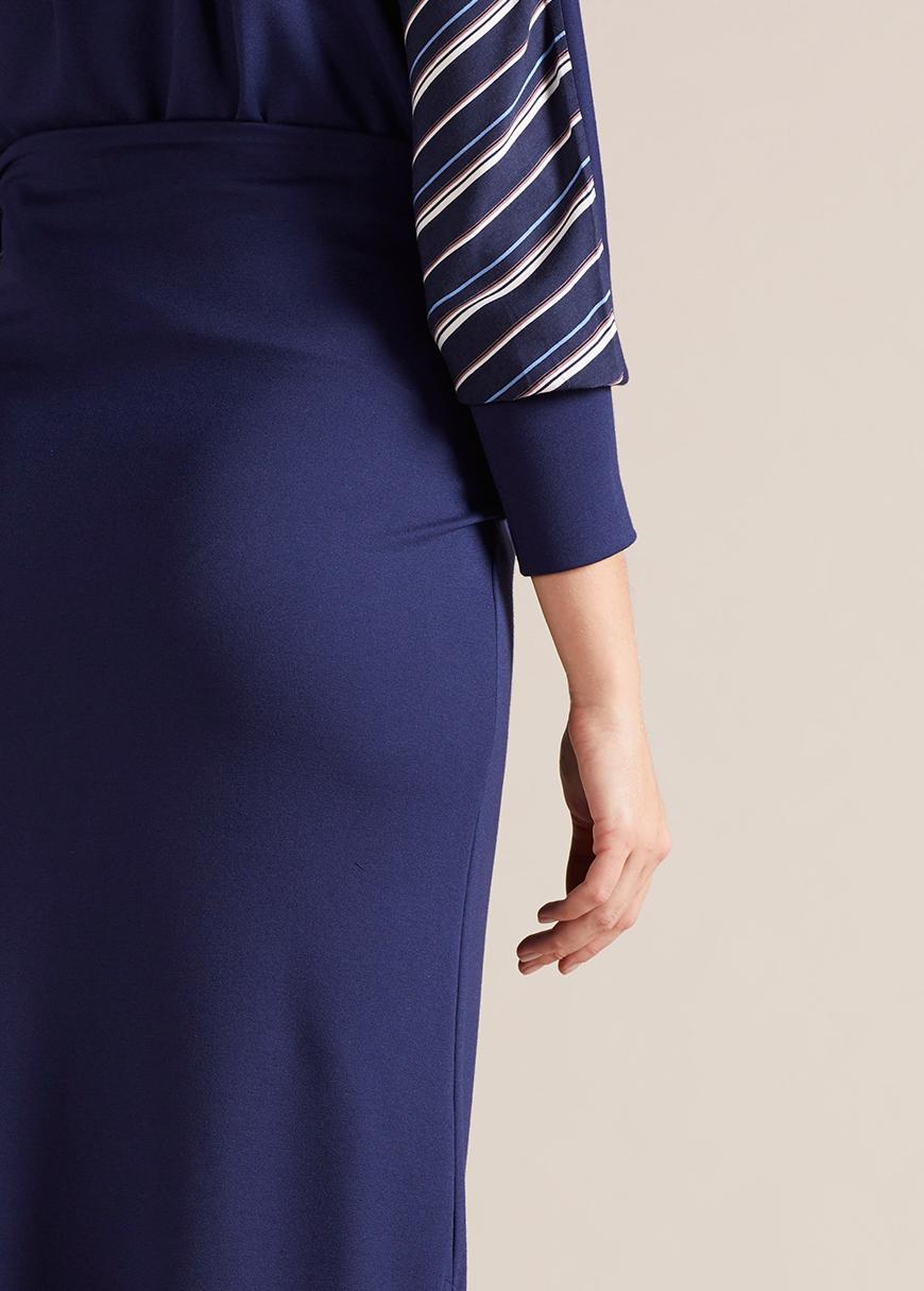 Yüksek Bel Yırtmaçlı Hamile Eteği Nadia