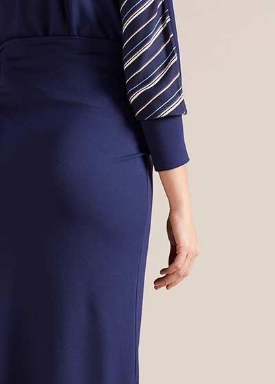 Yüksek Bel Yırtmaçlı Hamile Eteği Nadia - Thumbnail